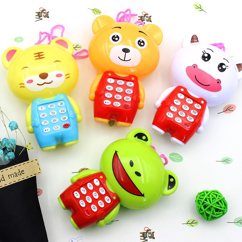Electronic Toy Phone Musical Mini Cute Children Phone Toy Early Education Cartoon Mobile Phone Telephone Cellphone Baby Toys(China)
