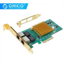 ORICO 2 Port PCIE to Gigabit Network Adapter For Windows Server 2003,Linux,OS INDEPENDENT,VIsta,win10(China)
