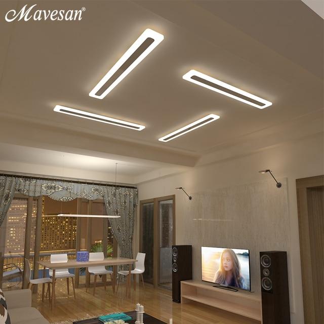 Mavesan acryl hal led plafond verlichting voor woonkamer for Led verlichting badkamer plafond