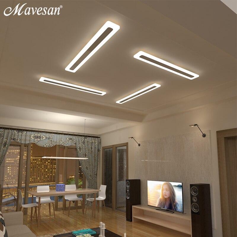 Mavesan Acrylique Couloir led plafonniers pour le salon Plafond Éclairage à la maison plafond lampe homhome luminaires Moderne