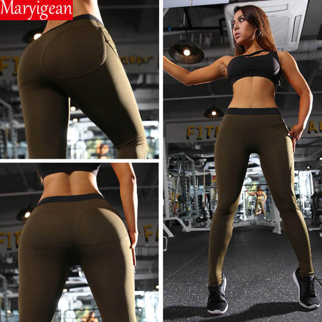 Maryigean Leggings High Quality Low Waist Push Up Elastic Casual Leggings Fitness for Women Sexy Pants Bodybuilding Clothing 10