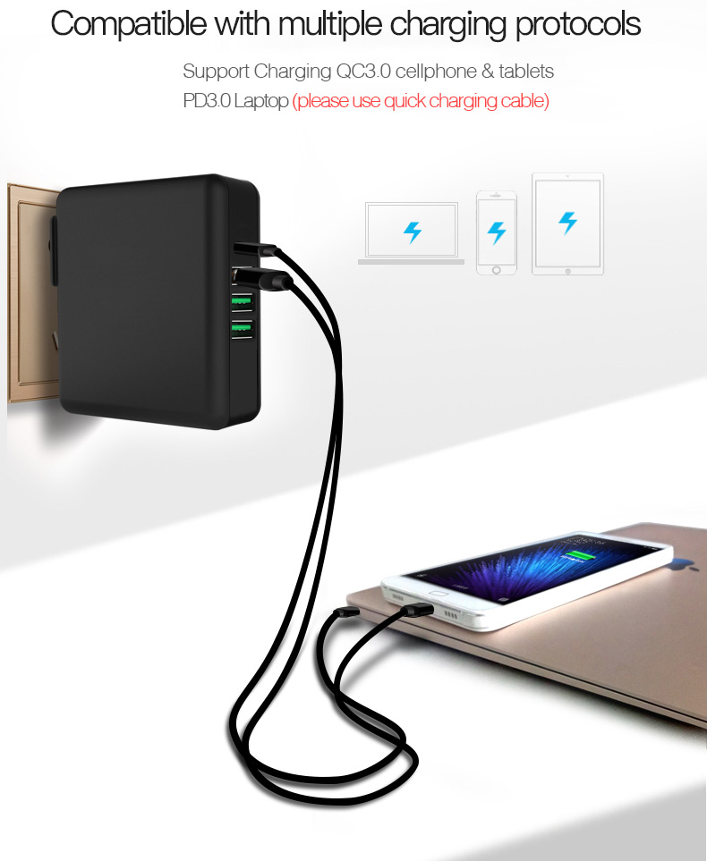 Quick Charge 3.0 Phone Tablet USB Charger (9)
