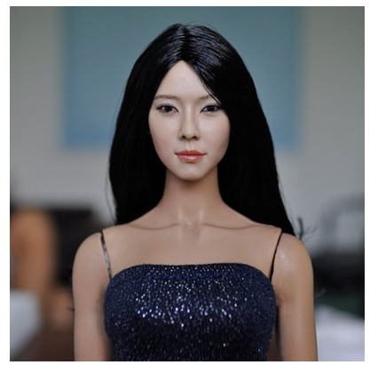 1//6 Kumik KM15-16 Beauty Asian Girl Head Carving Fit 12/'/' Action Figure Toy