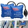 Locksmith Supplies 2 pcs Pump Wedge Locksmith Tools  Auto Air Wedge Airbag Lock Pick Set Open Car Door Lock Opening Tools