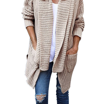Long Cardigan Women Sexy Sweater Women Long Sleeve Loose Knitting Cardigan Sweater Women Solid Plus Size Jumpers Pull Femme sweet solid color collarless long raglan sleeve cardigan for women