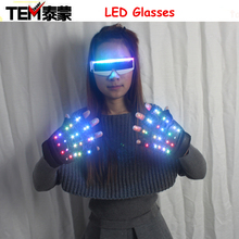 A Pair font b LED b font Color Changing Lighting font b Gloves b font Flashing