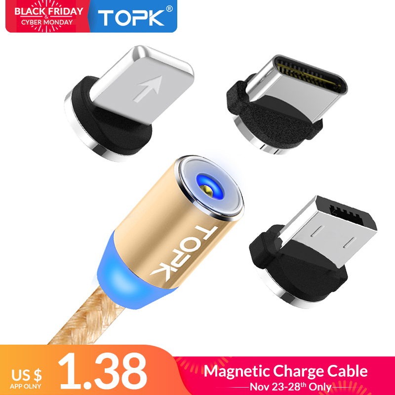 Cellphones & Telecommunications Mobile Phone Cables Usams Magnetic Charger Micro Usb Cable For Xiaomi Huawei Android Mobile Phone With Led Light Fast Charging Magnet Microusb Cable Superior Materials