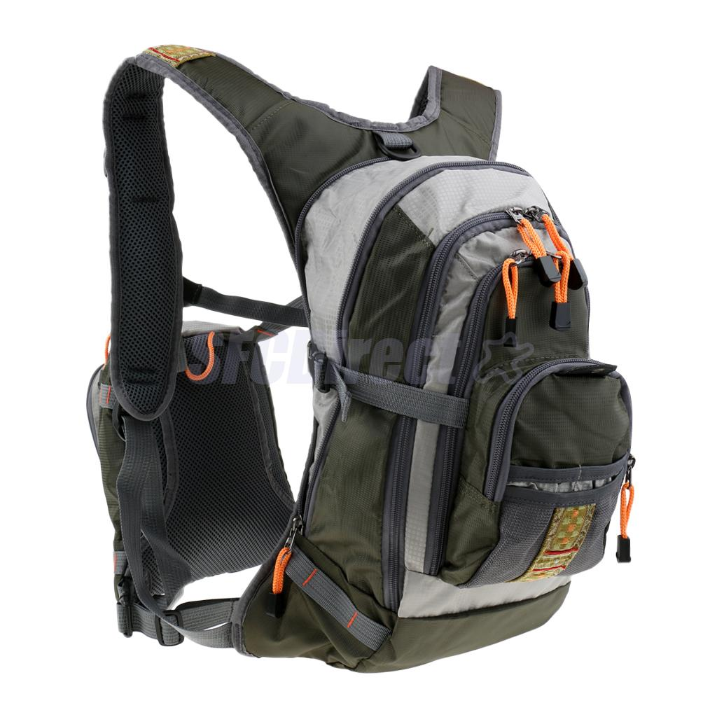 Fly Fishing Backpack Chest Pack Bag Combos Multi-Pockets Outdoor Sports Hiking Camping Backpack Fishing Pack outdoor sports pockets sv012199
