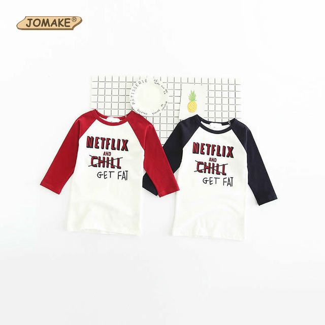 Letter Printed Baby Kids O-Neck Long Sleeve T-Shirts Casual Children Clothes Spring 2017 New Fashion Infant Costumes Kids Tops