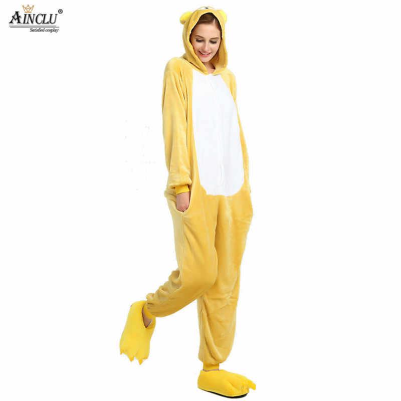 ... Кигуруми аниме унисекс для взрослых Медведь Rilakkuma комбинезоны детские  пижамы косплэй костюм Хэллоуина Карнавал Маскарад Вечерние ... 9cc73b324b342