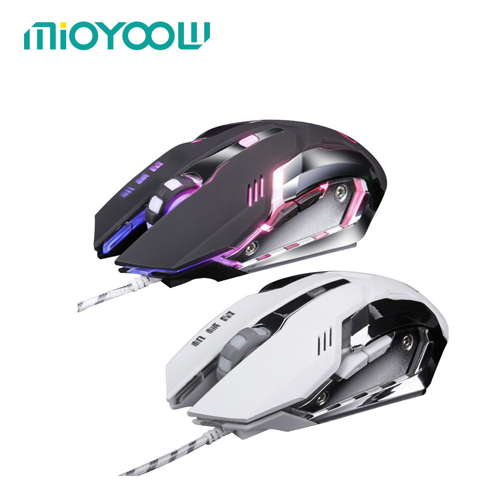 MiOYOOW 3200dpi Adjustment USB 6D Wired Optical Computer Gaming Mouse LED Mice For PC Laptop For Dota 2