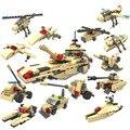 8 em 1 criança educacional 3D brinquedos modelo montagem bloco de construção de armas de defesa