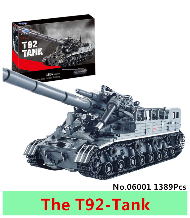 XingBao 06001 1389Pcs MOC Military weapon Series The T92 Tank Model Building Blocks Bricks Educational Toys For children Gifts