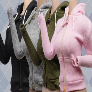 4 colors 1/6 Female Hooded Cardigan Sweat Shirt Coat Set Clothes for 12 PH Figure Doll Body 1 6 scale female white shirt custom made version women s waist shirt for large bust ph body female action figure