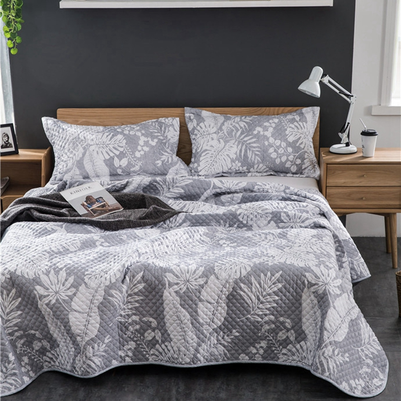 Thick Fashion Classics Quilted Bed Spread Soft Coverlet