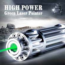 Most Powerful Green Laser Pointer Military 532NM Burning Green Laser Pointer Pen Burning Match, Cigarettes(China)