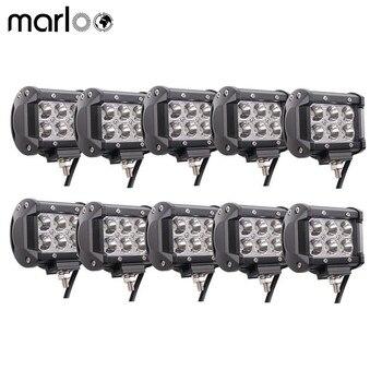 Marloo 10Pcs 4inch 18W led Pod LED Work Light Offroad Driving Fog Lights For SUV UTV ATV Boat Tractor Truck Motorcycle 12V 24V