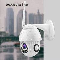 IP Camera Wifi Mini Speed Dome Camera Outdoor Wireless Two Way Audio Video Surveillance Pan Tilt CCTV Camera 1080P Night Vision