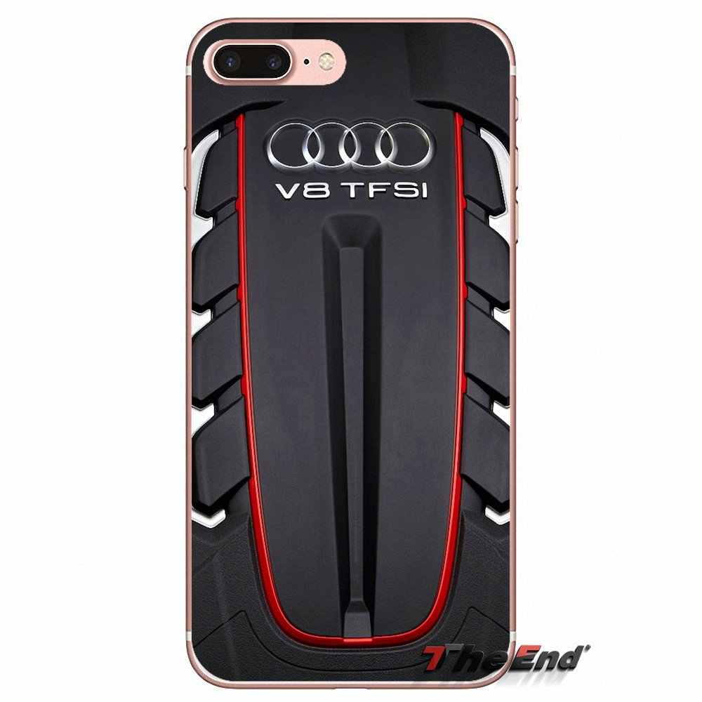 medium resolution of  audi twin turbo v8 engine logo soft case for iphone x 4 4s 5 5s 5c