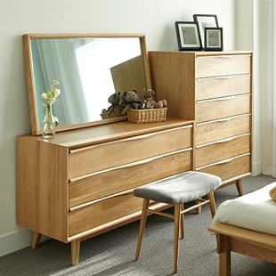 Japanese Style Wood Furniture Dodge Scandinavian Modern Style Oak Dresser  Dressing Table Three Lockers Drawers On Aliexpress.com | Alibaba Group