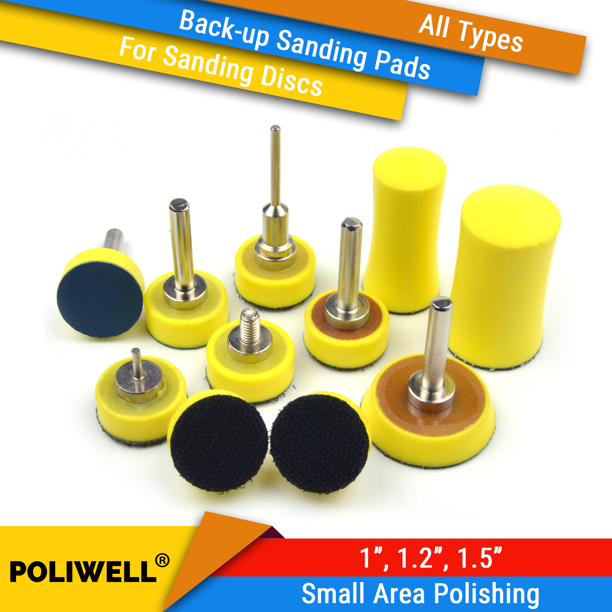 1/1.2/1.5 Inch All Types Back-up Sanding Pads For Abrasive Sandpaper Sanding Discs For Woodworking Small Area Polishing