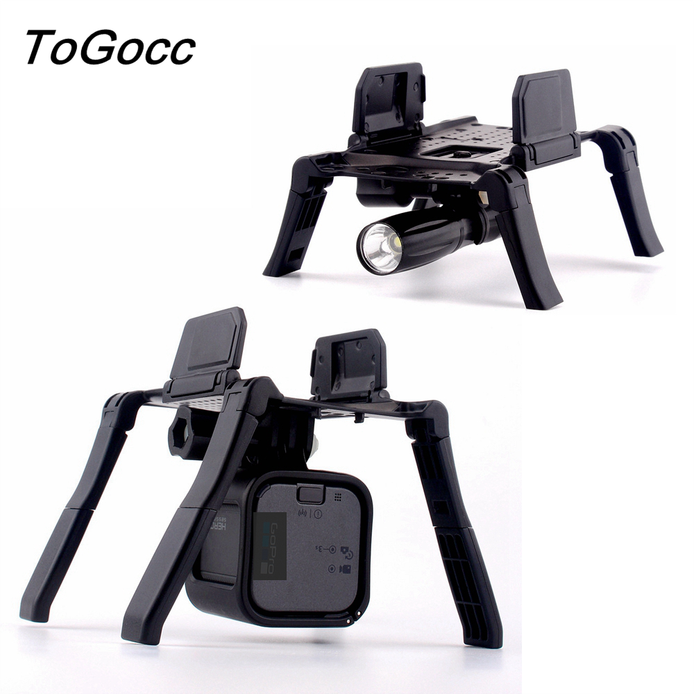 DJI Mavic Air Drone Accessories Landing Gear Portable Foldable Mount Holder Bracket For Gopro Camera LED Lamp Lights