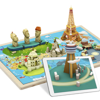 TOPBRIGHT AR World Map Puzzle Wood 3D Puzzle Kids 2 6 Years Old Baby Toys Educational Toys