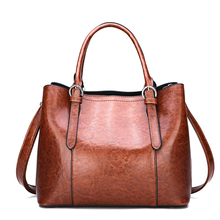 Ladies bags for women 2018 New Female BagTote  VintageLeather Fashion Shoulder Handbags Crossbody Hot sale