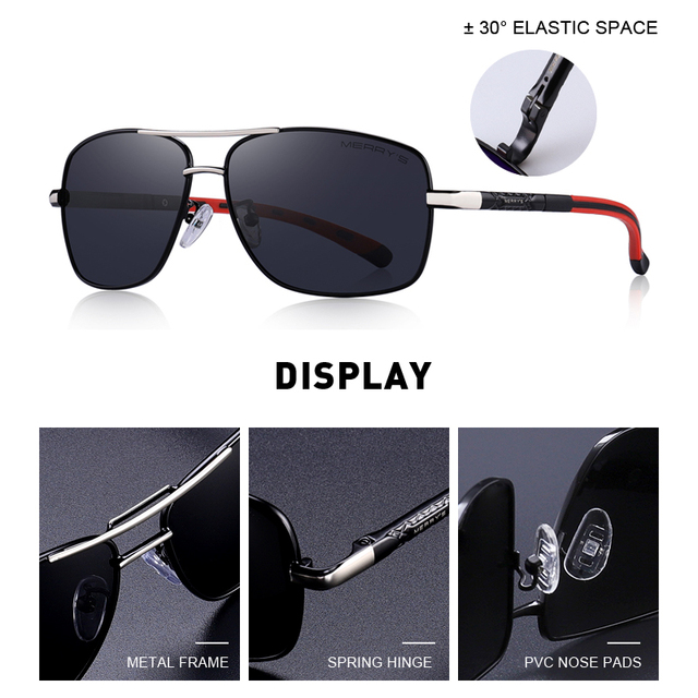 Men's Polarized Aviator Sunglasses