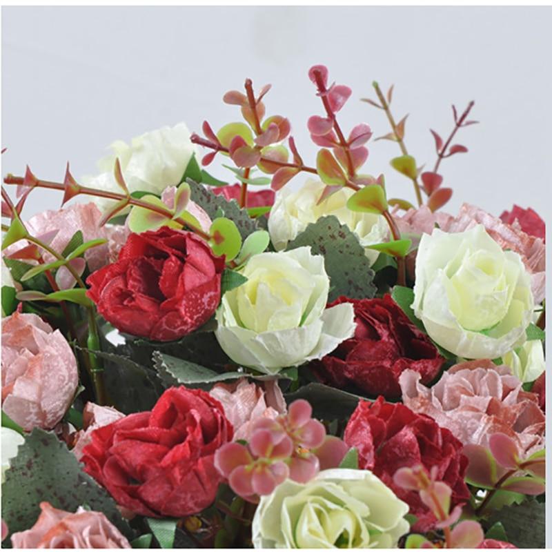 1 Set Bunga Buatan Naik Buket Emas Keramik Vas Jar Eropa Vintage Pernikahan  Rumah Toko Dekorasi Bunga Palsu 4 Warna di Buatan   Bunga Kering dari Rumah  ... 993bc1958c