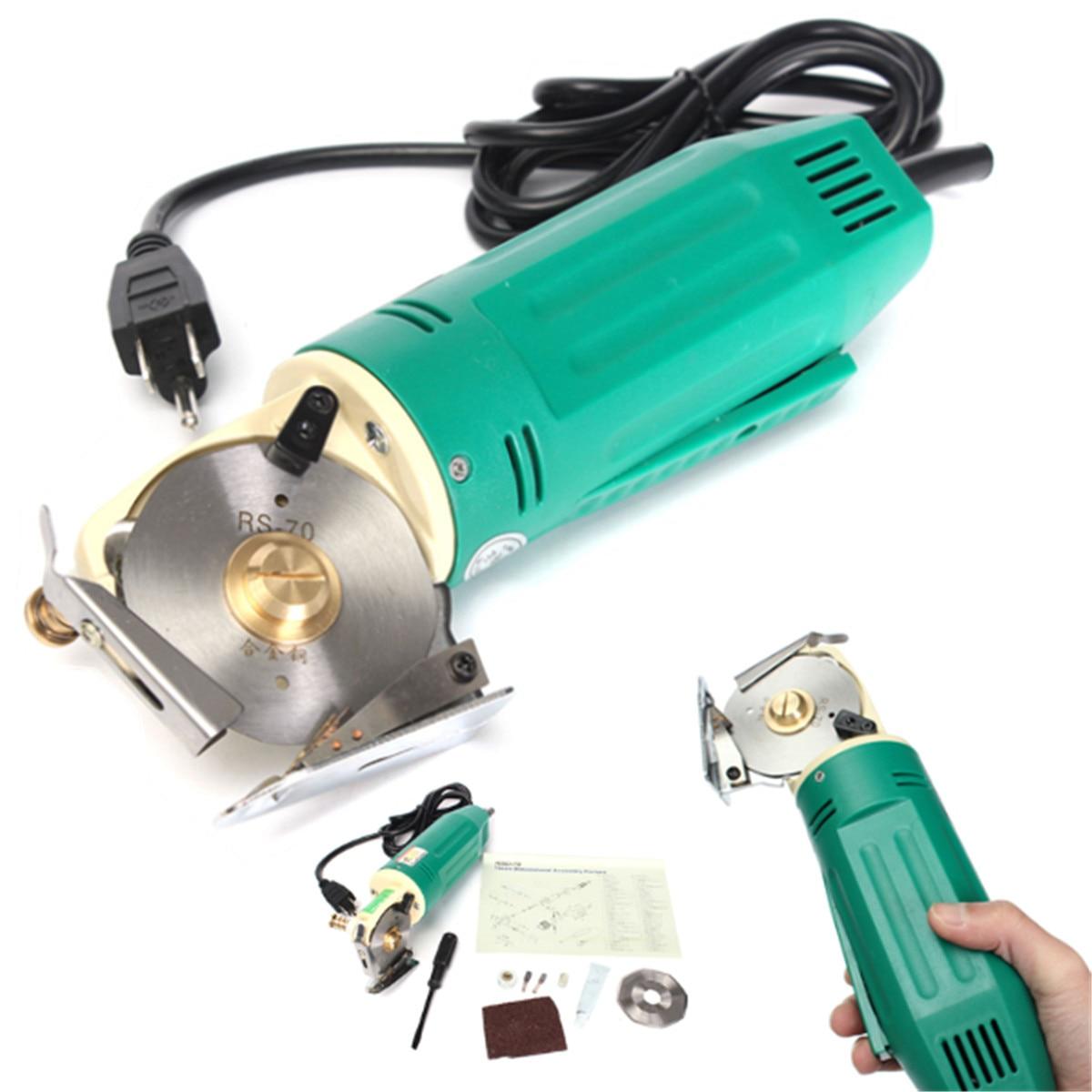 70MM 220V Electric Shear Rotary Round Blade Fabric Cloth Cutter Cutting Machine