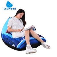 LEVMOON Beanbag Sofa Chair Cartoon Superman Seatzac Comfort Bean Bag Bed Cover Without Filler Cotton Indoor