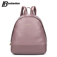 BOSTANTEN Causal Genuine Leather Backpack Rucksack Real Leather Preppy Style School Backpack Cowhide Mochila Feminina Travel Bag