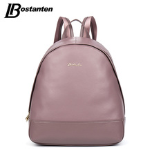 Bostanten причинные натуральная кожа рюкзак рюкзак натуральная кожа опрятный стиль школа рюкзак кожа mochila feminina дорожная сумка