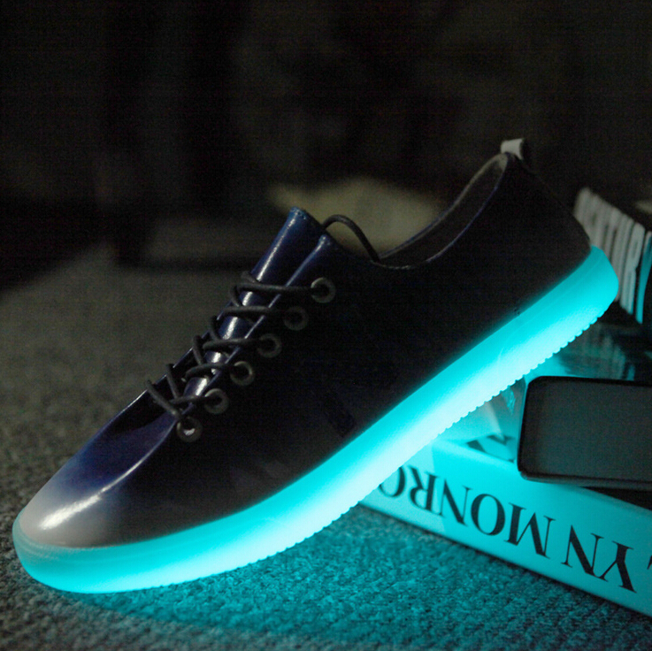 Men's Shark nigh light shoes Men glow in the dark cool
