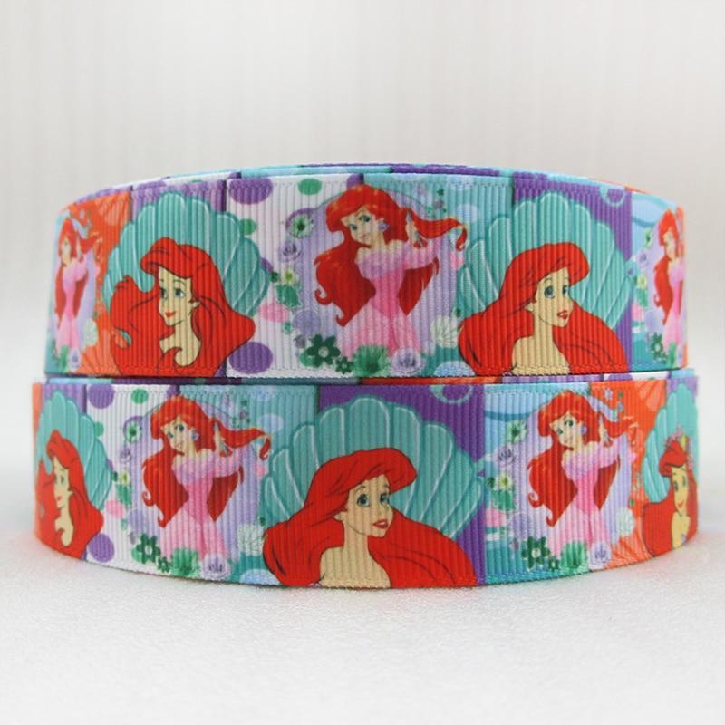 5y45862 1 «(25 мм) море для девочек высокого качества с принтом полиэстер ленты 5 метров, DIY материалы ручной работы, свадебная подарочная упаковка