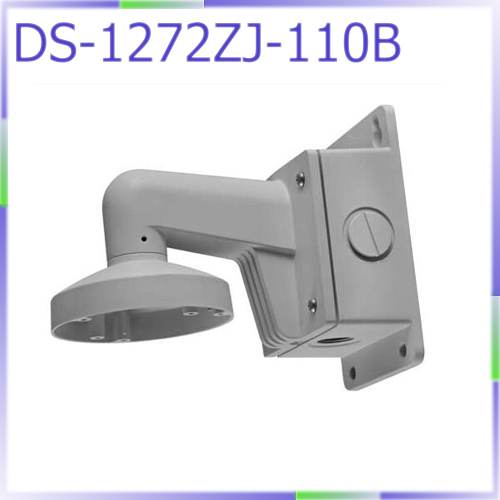 free shipping DS-1272ZJ-110B cctv camera accessory wall mount bracket with junction box for dome camera DS-2CD21** camera ds 1602zj box pole ptz camera vertical pole mount bracket with junction box
