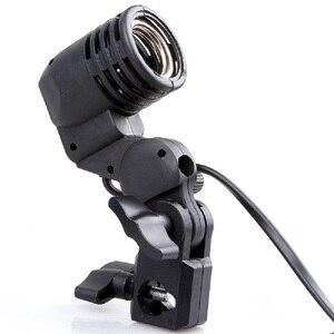 Image 2 - صور الفيديو الضوئي المصباح الكهربي حامل E27 المقبس الرقيق فلاش قطب قوس استوديو ل LED GODOX ستروب S45 S45T SY3000 SY8000