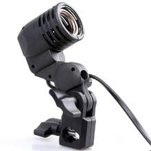 Foto Luz de Vídeo Lámpara Del Bulbo E27 Socket Flash Esclavo soporte giratorio estudio para led estroboscópico godox s45t s45 sy3000 SY8000