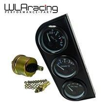 Medidor de temperatura de aceite de 52mm + Indicador de temperatura de agua + medidor de presión de aceite con Sensor 3 en 1 Kit de Triple calibre electrónico Metro automóvil TAG03