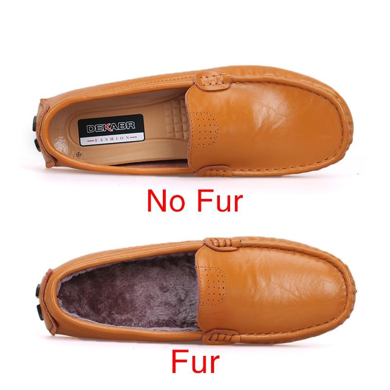 Image 2 - Мужские туфли из натуральной кожи DEKABR, желто коричневые мягкие мокасины, модная брендовая удобная обувь на плоской подошве для вождения, весна осень 2019shoes brandshoes fashionshoes quality -