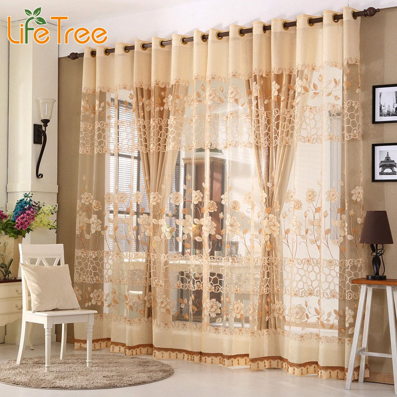 Aliexpress Luxury Window Curtains Set For Living Room Sheer D European Bedroom 1 Pc Curtain Hook Tulle Grommet From