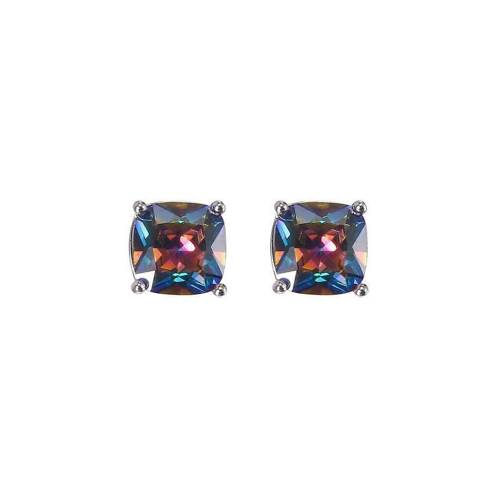 Brincos femininos bonitos requintado brinco de prata princesa corte mystic arco-íris noivado fabuloso jóias oorbellen pendientes