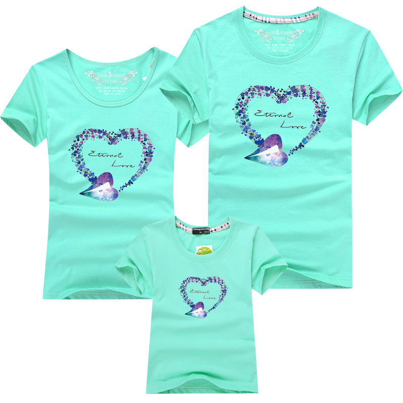 HTB1xxt1PFXXXXXaXXXXq6xXFXXXR - Mommy and Me Clothes Family Look Summer LOVE Ggarland Pattern Family T Shirt Father and Son Clothes Family Matching Outfits