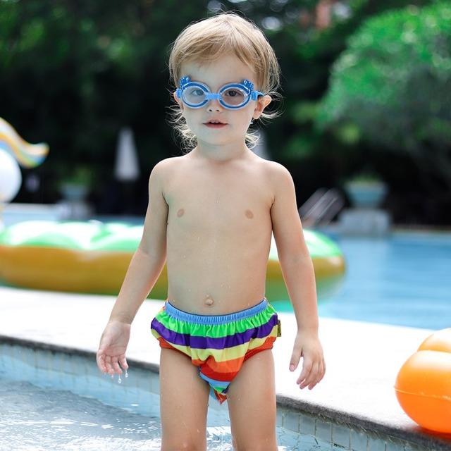 Baby Swimwear Waterproof Kids Swim Diaper Pool Pant Boys Girls Nappy Panties Reusable Swimming Trunk Toddler Potty Underwear