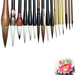 Conjunto de pinceles de caligrafía tradicional china, pincel de pintura de paisaje, pincel de escritura de pluma de pelo de comadreja, juego de pinceles para estudiantes