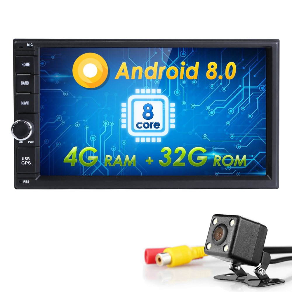 Hizpo AutoRadio 2din Android 8.0 AutoRadio pour Nissan xtrail juke Qashqai Multimédia Lecteur Universel GPS De Voiture Audio 4g + 32 gb Wifi