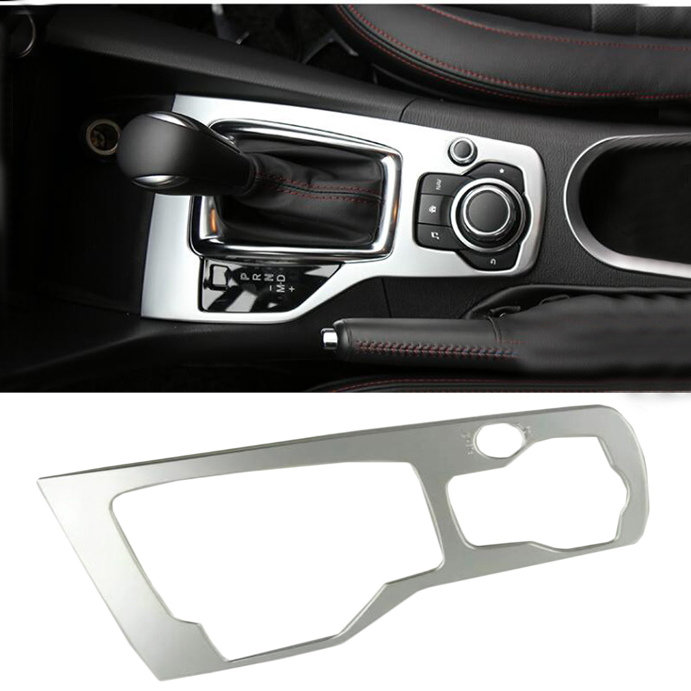 For Mazda 3 M3 Axela 2014-2016 Left Hand AT Model Interior Gear Box Panel Modified Ring Circle Hand brake Ring Frame Cover Trim