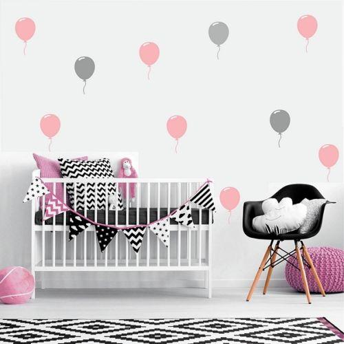 Baby Stickers Voor Op De Muur.Us 8 98 25 Off 32 Stks Set Grote Ballon Muur Art Stickers Verwijderbare Diy Vinyl Muur Decals Baby Nursery Muur Art Mural Kinderkamer Home Decor