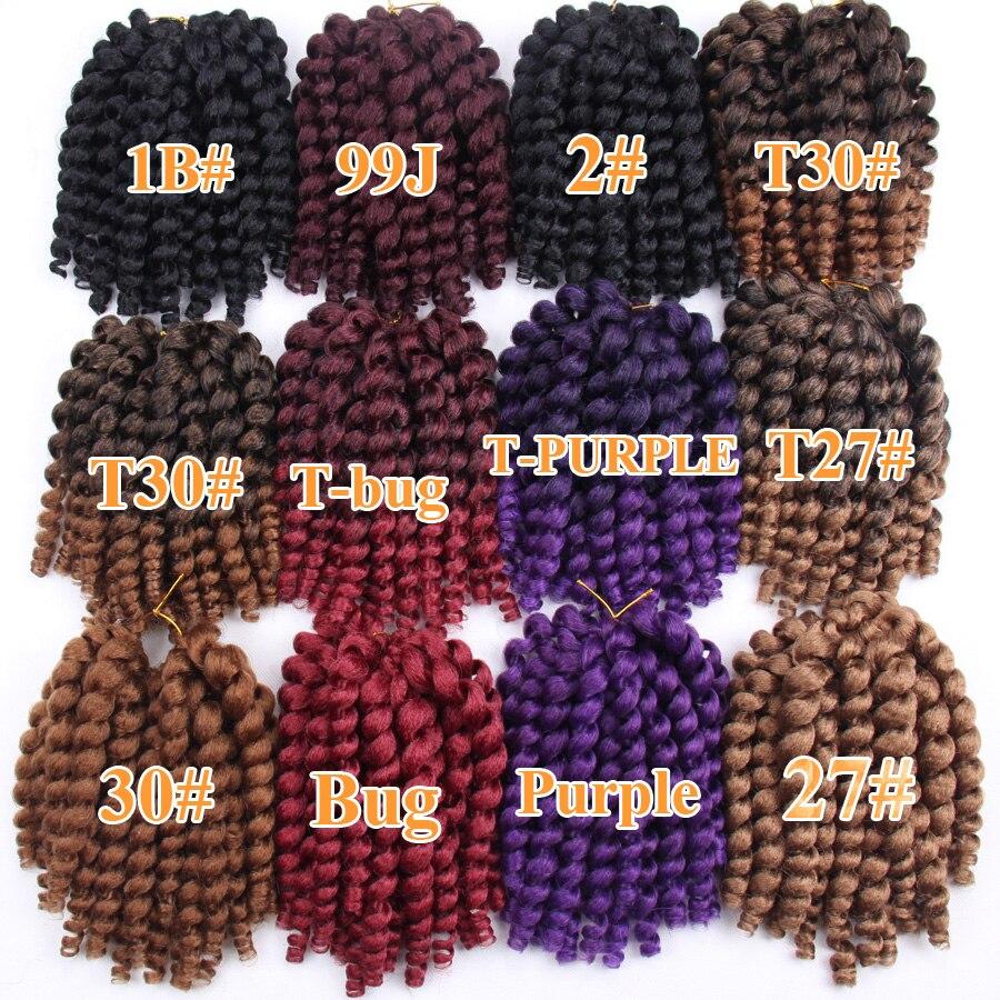 FALEMEI 10inch 2X jamaican studs twist hair tresse crochet flätor - Syntetiskt hår - Foto 4